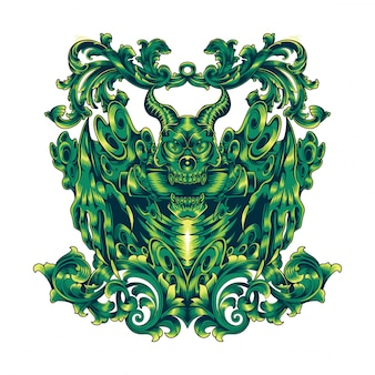 Devil head mascot logo