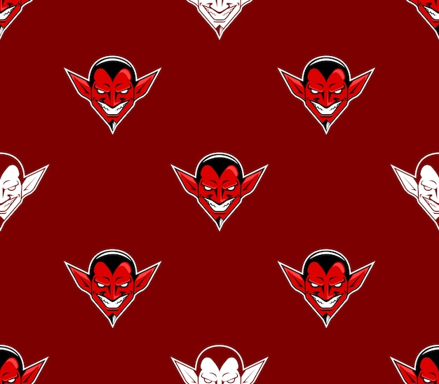 Devil head pattern