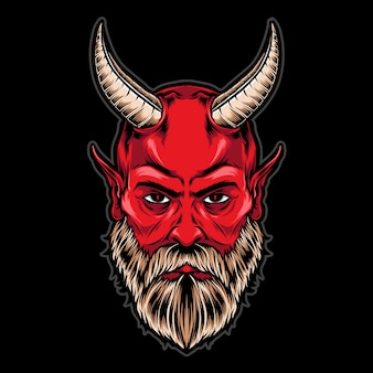 Devil head with horns