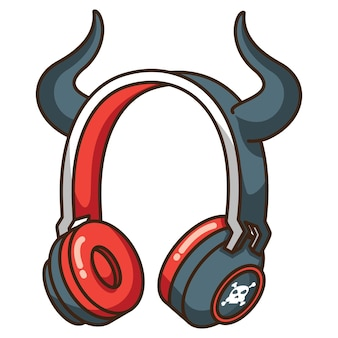 Devil horn ear 헤드폰 헤드셋 블루투스