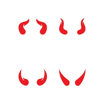 Devil horn logo  vector icon template