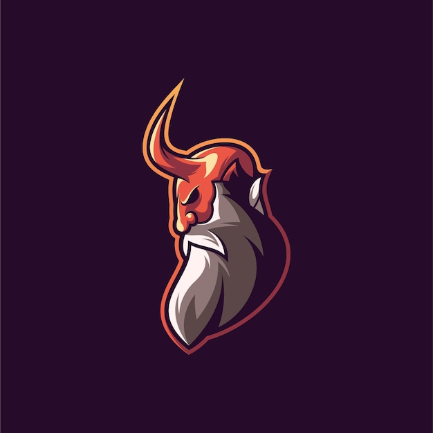 悪魔のイラストデザイン。