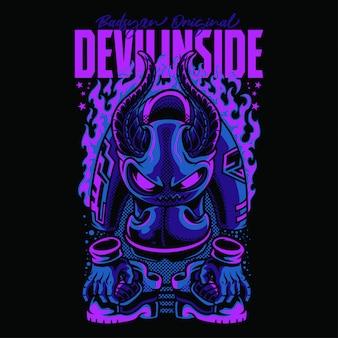 Devil inside monster street illustration