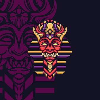 マスコットゲームのためのエジプトの悪魔王