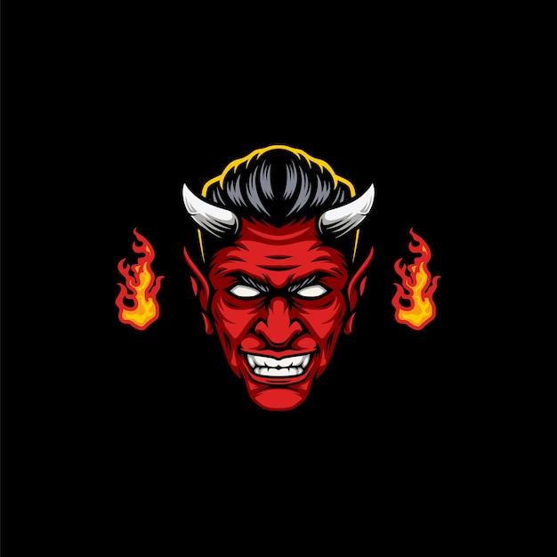 悪魔のマスコットデザイン