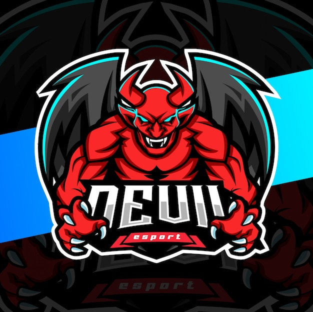Devil mascot esport logo design