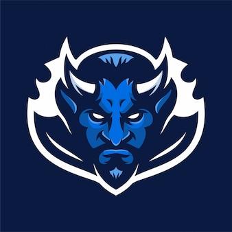 Devil mascot head sportロゴ