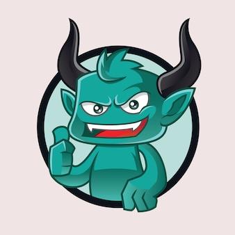 悪魔のマスコットロゴ