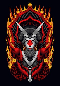 Devil mecha geisha