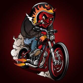 Всадники дьявола катаются на классическом велосипеде измельчителя