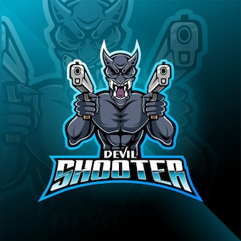 Devil shooter esport mascot logo
