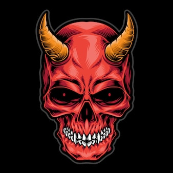Devil skull head  logo