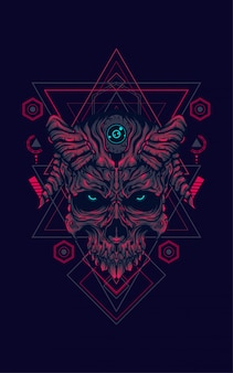 Devil skull sacred geometry
