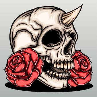 장미와 악마 해골입니다.