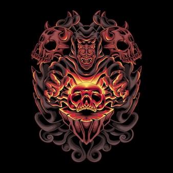 Дьявольский поклонник черепа