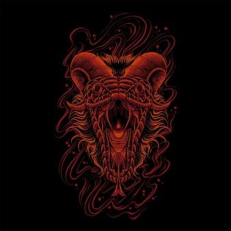 붉은 색의 악마 뱀
