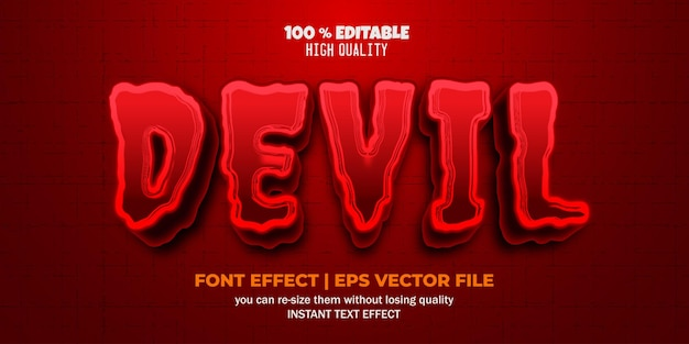 Devil text effect editable demon and hell text style template
