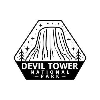 Devil tower national park sticker