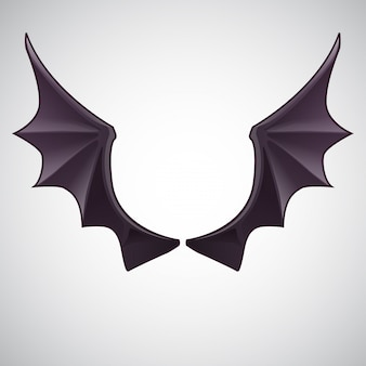 Devil wing vector