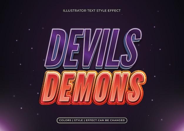 Текстовый эффект дьяволов и демонов