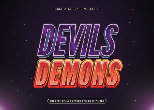 Devils and demons text effect