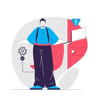 Devops concept illustration