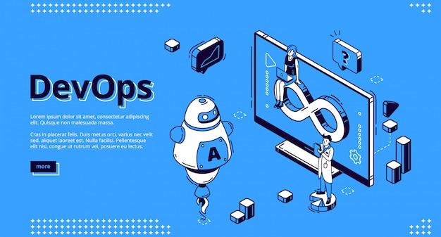 Devops, development operations banner