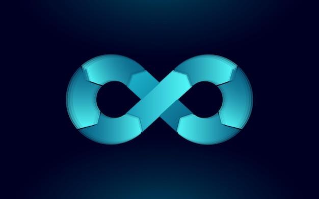 Символ бесконечности операций разработки программного обеспечения devops Premium векторы