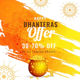 Dhanteras festival sale background.