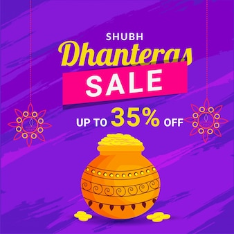 Dhanteras sale template design.