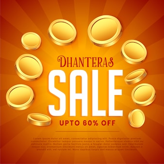 Dhanteras продажа с золотыми монетами