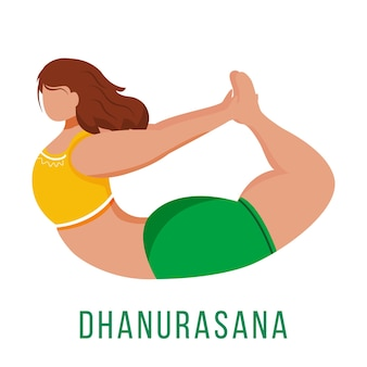 Dhanurasana flat design illustration