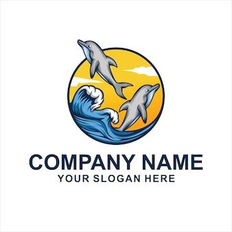 ユニークなdholpins海のロゴ