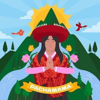 Иллюстрация диа де ла пакамама