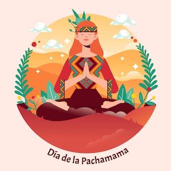 Dia de la pachamama イラスト