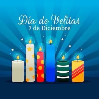 Día de las velitas свечи иллюстрированные