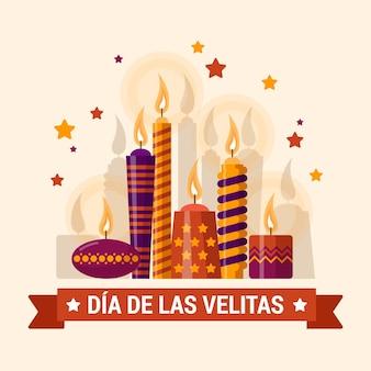 Dia de las velitas and cute christmas stars