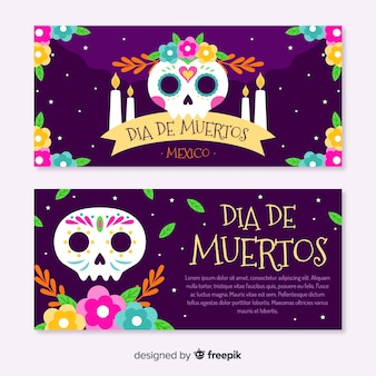 Dia de los muertos черепа со свечами