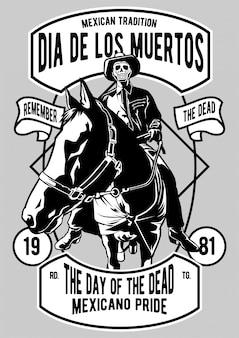 Плакат dia de los muertos