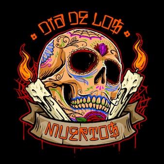Dia de los muertos череп