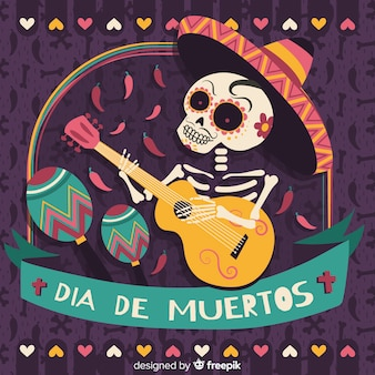 Dia de muertos background concept