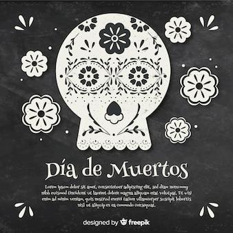 Dia de muertos background design