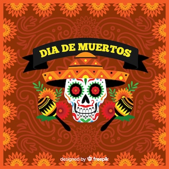 Dia de muertos background design