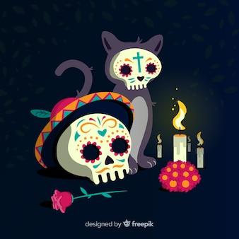 Dia de muertos background