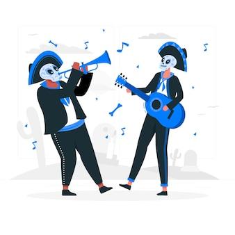 Иллюстрация концепции празднования dia de muertos