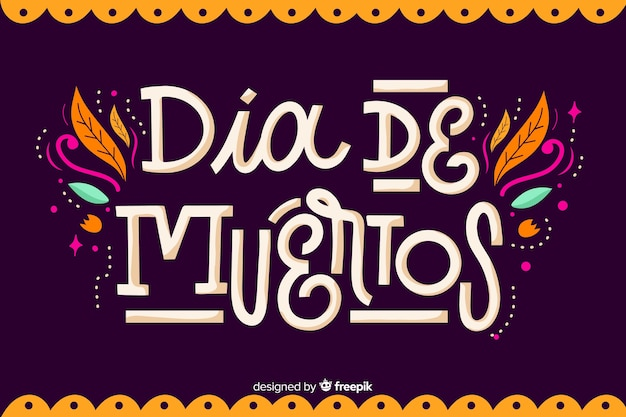 Día de muertos concept with flat design background