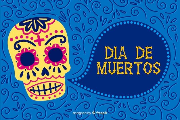 Концепция de muertos с рисованной фон