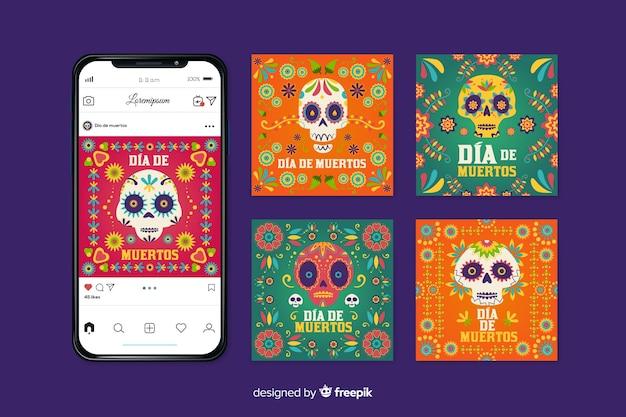 Día de muertos instagram коллекция сообщений