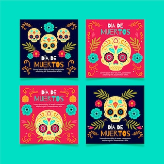 Dia de muertos instagram post post collection