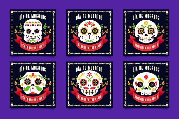 Díade muertos instagram post post collection